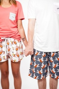 TGS Hello Mr and Hello Mrs shorts